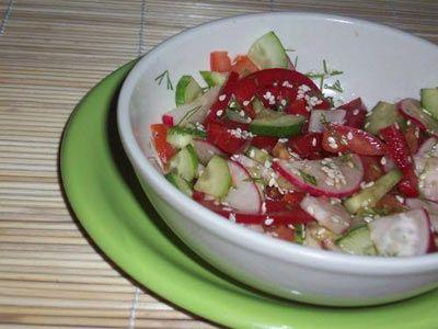 салат с морковью