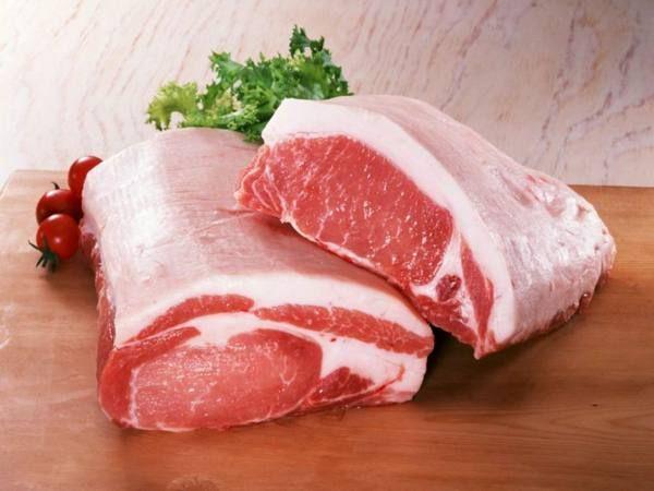 Разделка свиной туши (схема частей тела)
